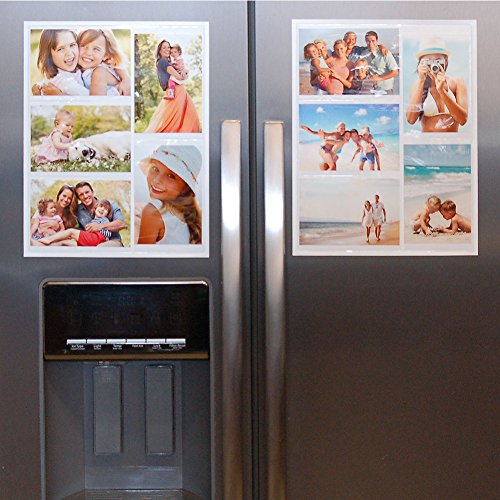 Wind & Sea Magnetic Picture Collage Frame for Refrigerator, 2-Pack, White